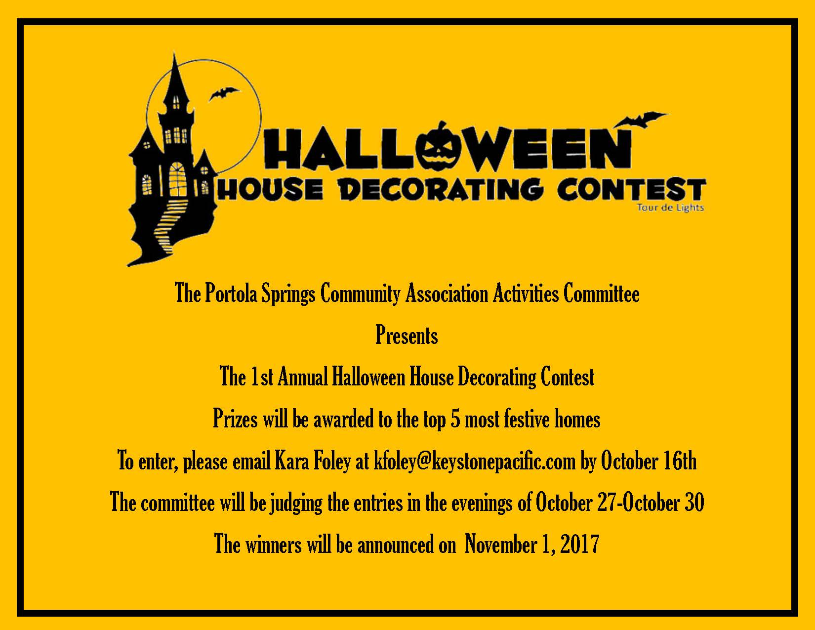 Haunted House Decorating Contest Flyer